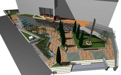 Започна со изградба паркот пред општинската зграда во Вевчани!