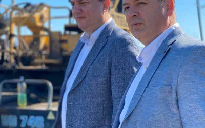 Министерот за транспорт и врски Горан Сугарески во работна посета на Општина Вевчани