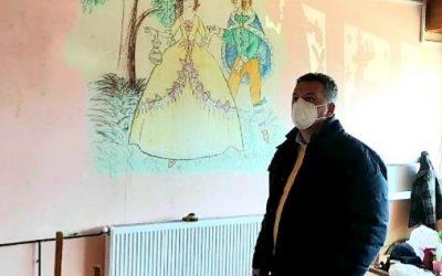 """Градоначалникот Јанкоски во увид на работите во детска градинка """"Планински Цвет"""" – Вевчани"""