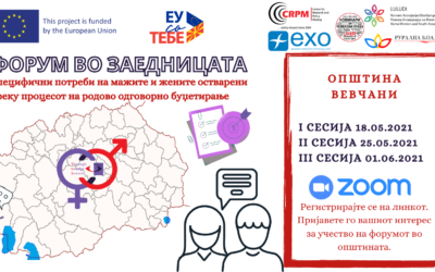 Форуми во заедницата во општина Вевчани